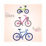 Family Bikes Prints by  Julka