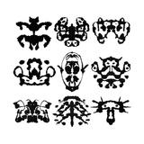 Nine Rorschach Test Prints by  akova