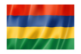 Mauritius Flag Print by  daboost