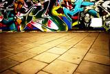 Wide Angle Shot Of Graffiti Posters by  sammyc