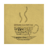 Coffee Cup Of Words Prints by  alanuster
