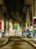 Impressive Graffiti In Derelict Concrete Urban Location Posters by  sammyc