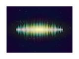 Shiny Sound Waveform Posters by Swill Klitch