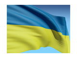 Flag Of Ukraine Posters by  bioraven