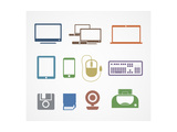 Digital Stuff Icons Posters by  tovovan
