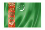 Turkmenistan Flag Reproduction giclée Premium par  daboost