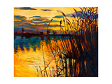 Lake On Sunset Art by Boyan Dimitrov