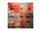 Triangles Pattern Prints by Maksim Krasnov