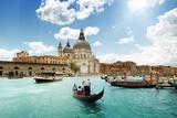 Grand Canal And Basilica Santa Maria Della Salute, Venice, Italy And Sunny Day Photographic Print by Iakov Kalinin