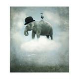 Fantasy Elephant Flying Posters af ValentinaPhotos