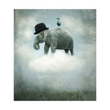 Fantasy Elephant Flying Posters by  ValentinaPhotos