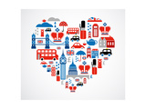 London Heart Kunstdruck von  Marish