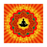 Yoga - Meditation Premium Giclee Print by  mahesh_patil