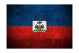 Grunge Flag Of Haiti Prints by  Gilmanshin