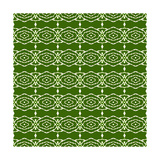 Green Native Pattern Premium Giclee Print by  weknow