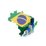 Brazil Map And Graph Prints by  alexmillos