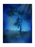 Árbol solitario Láminas por  justdd
