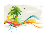 Summer Background Affiches par  Misha