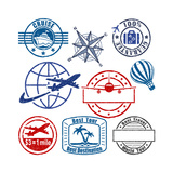 Travel Stamp Prints by  arrow123