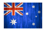 Australia Flag Prints by Miro Novak