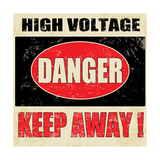 Danger High Voltage Posters by  radubalint