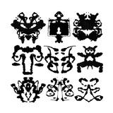 Nine Rorschach Test Posters by  akova