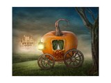 Pumpkin Carriage Poster by  egal