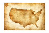 Old American Map Posters by Ivanou Aliaksandr