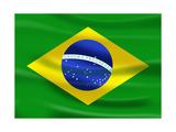 Flag Of Brazil Kunst von  talitha