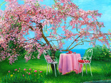 Blossoming Plum In A Spring Garden Posters by  balaikin2009