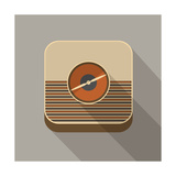 Retro Radio Icon Posters by  YasnaTen