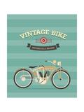 Vintage Bike Print by vector pro