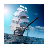 Sailing Ship At Sea Print by  Antartis