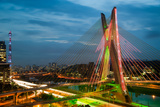 Octavio Frias De Oliveira Bridge, Brazil Print by  CelsoDiniz