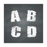 Chalkboard Alphabet Posters by Volkov Roman
