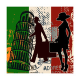Italian Travel Flyer Art by  Petrafler