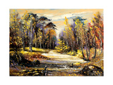 Road To Autumn Wood Prints by  balaikin2009