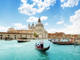 Grand Canal And Basilica Santa Maria Della Salute, Venice, Italy And Sunny Day Photographic Print by Iakov Kalinin