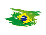 Brazil Flag Stylized Prints by  talitha