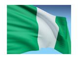 Flag Of Nigeria Premium Giclée-tryk af  bioraven