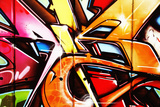 Very Colorful Cool Graffiti Landscape Print by  sammyc