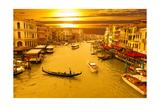 Venice Coucher de soleil Affiche par  netjens