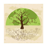 Tree World Concept Prints by  cienpies