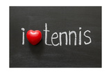 Love Tennis Prints by Yury Zap