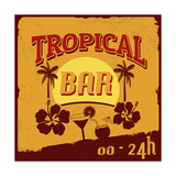 Tropical Bar Poster Posters by  radubalint