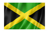 Jamaican Flag Print by  daboost