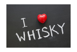 Love Whisky Print by Yury Zap