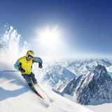 Skier In High Mountains Posters by  dellm60