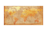 Vintage World Map Prints by  marinini