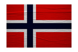 Norway Flag Prints by igor stevanovic